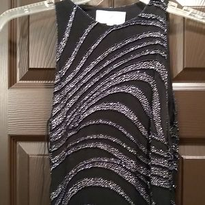 Prom or special occasion black beaded dress